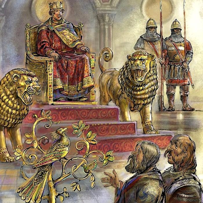 Современная фантазия, какой была описанная аудиенция у византийского императора. /Фото: history.syktnet.ru
