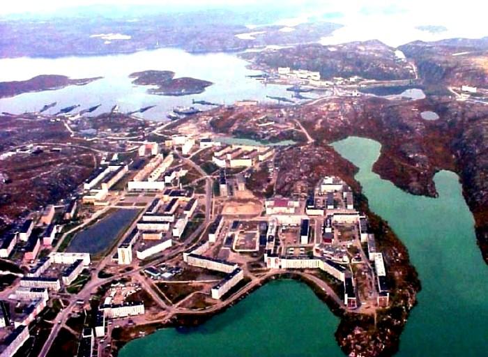 Аэрофотосъемка закрытого города Гаджиево. /Фото: zato-a.ru
