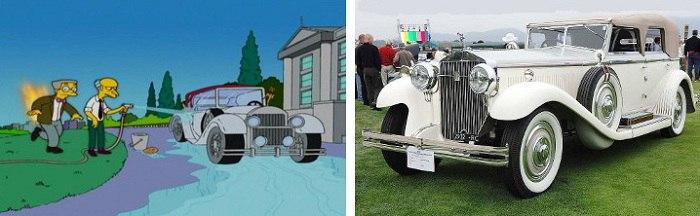 Один из самых красивых и раритетных автомобилей, которые появились в мультфильме. /Фото: vk.com