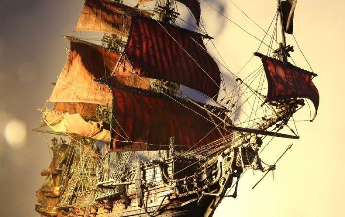 Флагман легендарного пирата Черная борода. /Фото: fishki.net