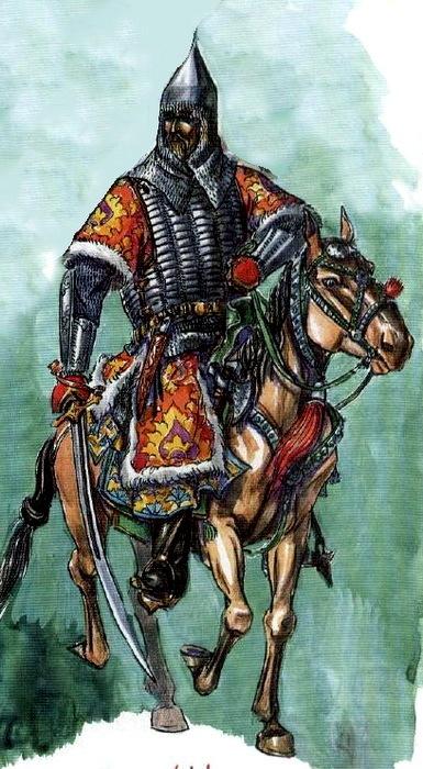 Воин в бехтерце 16 столетия, реконструкция в виде концепт-арта. /Фото: warspot.ru