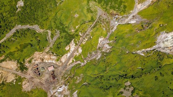 Геотермальная станция, вид сверху. /Фото: wikipedia.org