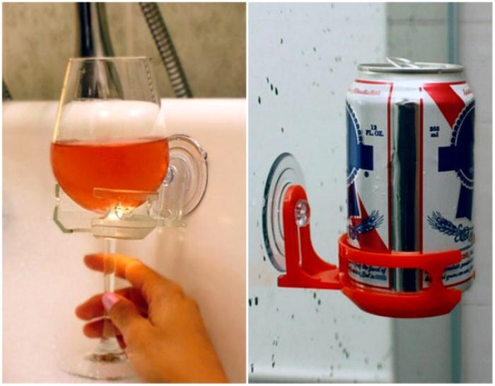Держак для напитков - гениальная штука в своей полезности. /Фото: awesomeinventions.com