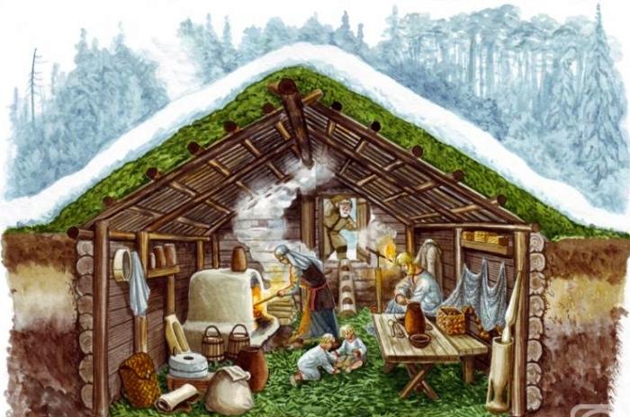 Арт-концепт полуземлянки, в которой жили древние славяне. /Фото: artnow.ru