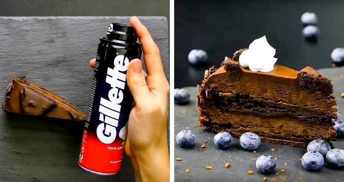 Оказывается, самые симпатичные сливки на десертах - из пены для бритья. /Фото: businessman.ru