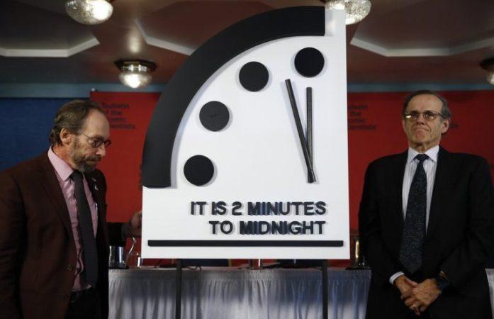 Часы Судного дня в 2019 году. /Фото: knowhow.pp.ua