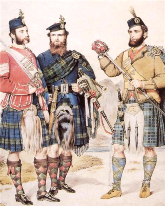 Палаш давно ассоциируется с шотландскими горцами. /Фото: livejournal.com