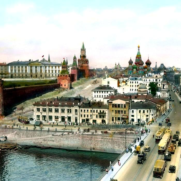 Дореволюционная панорама исторического района Зарядье. /Фото: livejournal.com