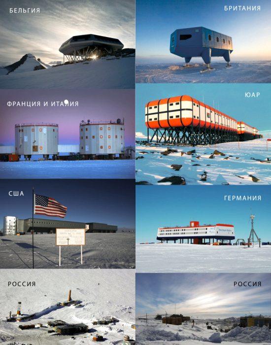 Люди в Антарктиде живут только в научно-исследовательских станциях. /Фото: pikabu.ru