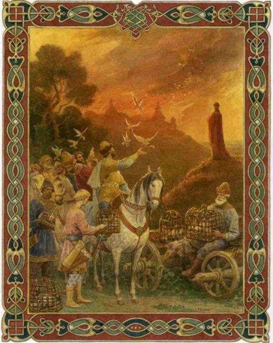 Месть княгини Ольги древлянам - типичный пример использования живого напалма. /Фото: bolcheknig.ru