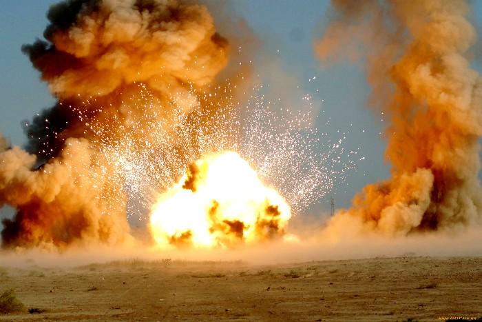 Объемный взрыв почти такой же мощный, как и ядерный. /Фото: pikabu.ru