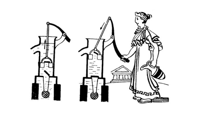 В Древней Греции вообще технология насосов была весьма популярной. /Фото: fenixslovo.com