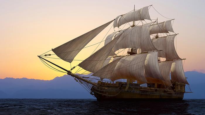Маленький да удаленький пиратский корабль. /Фото: pikabu.ru