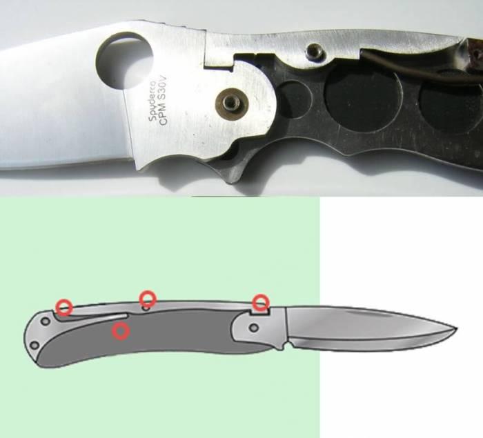 Нож с замком Back Lock. /Фото: topwar.ru