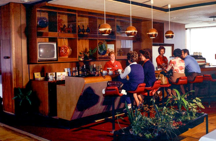 Бар в гостинице «Интурист». /Фото: homsk.com