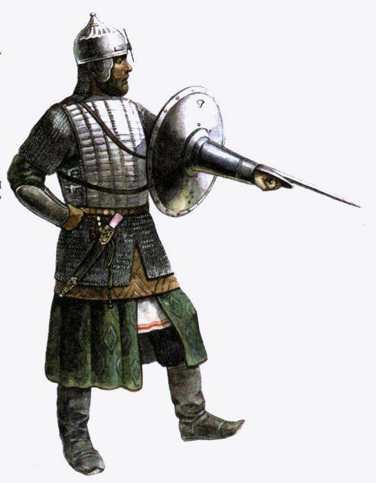 У русских ратников бехтерец имел ряд отличительных черт. /Фото: swordmaster.org