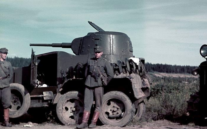 Трофейный БА-10, захваченный финнами в 1940 году. /Фото: pinterest.de