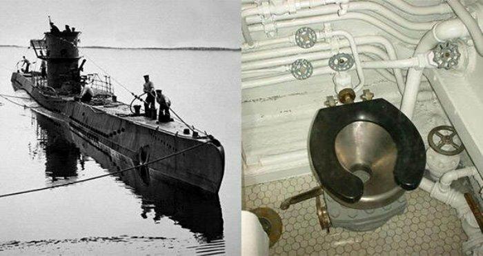 Кто бы мог подумать, что причиной затопления лодки станет туалет. /Фото: fishki.net