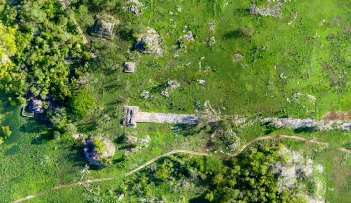 Фрагмент белой дороги племени майя. /Фото: eurekalert.org