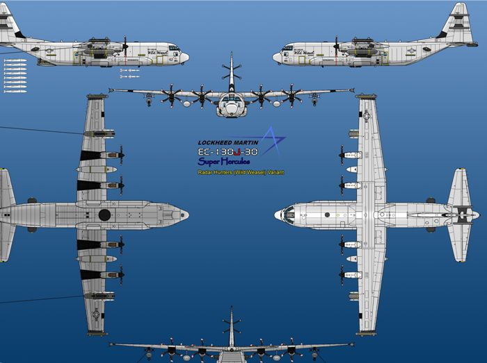 Чертежи самолета C-130 Hercules. /Фото: pinterest.de