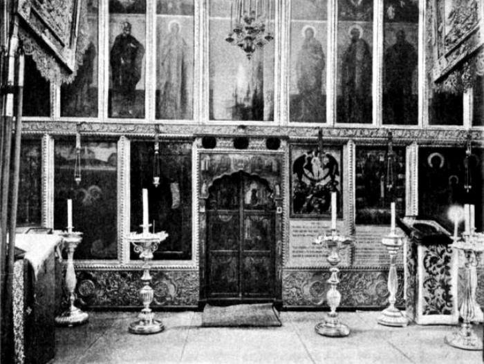 Собор Спаса на Бору внутри, 1910-е годы. /Фото: wikimapia.org
