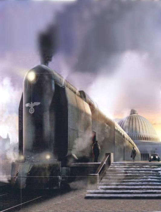 Современный концепт-арт масштабного железнодорожного проекта Третьего рейха. /Фото: naked-science.ru