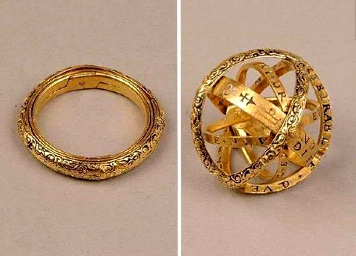 Оригинальное кольцо эпохи раннего модерна. /Фото: hroniky.com