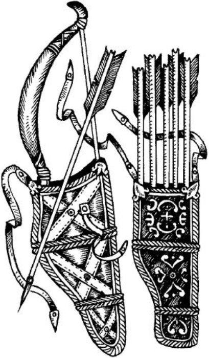 Лучное снаряжение (сайдак) древнерусского воина. /Фото: wikireading.ru