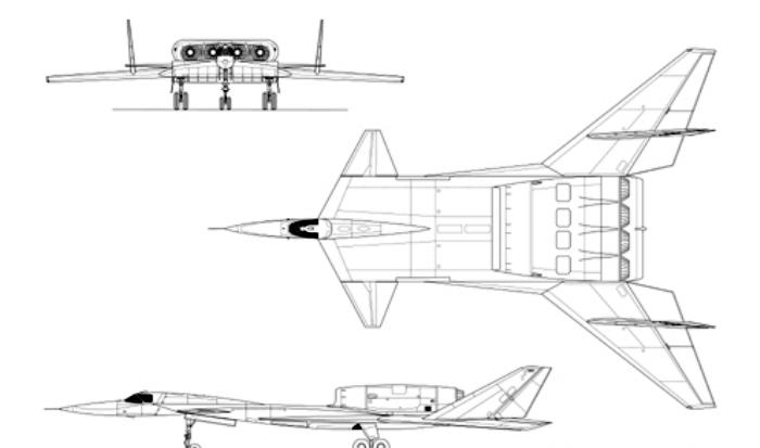 Один из предполагаемых схем будущего самолета. /Фото: dogswar.ru