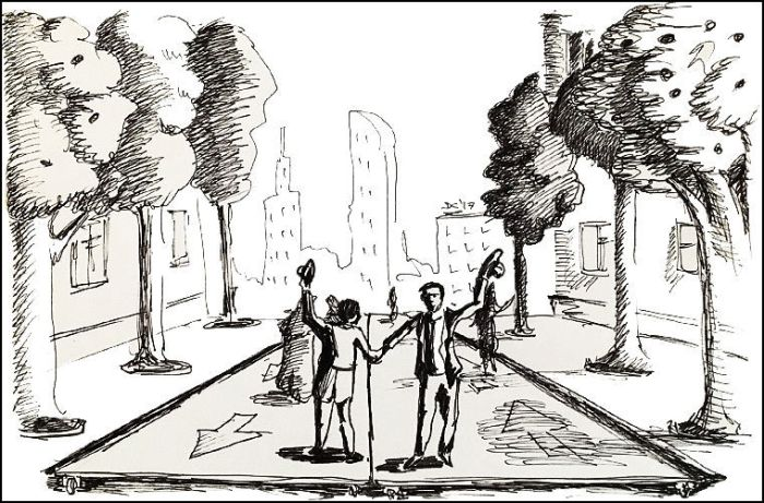 В прошлом люди думали, что однажды им даже не придется ходить по тротуарам. /Фото: blogspot.com