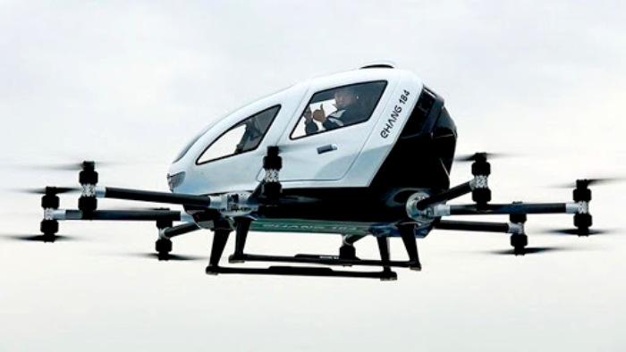 Одноместное такси, летающее по воздуху, уже активно разрабатывают. /Фото: airwar.ru