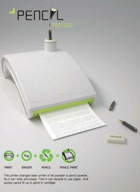 Принтер, который печатает карандашами. /Фото: me.me