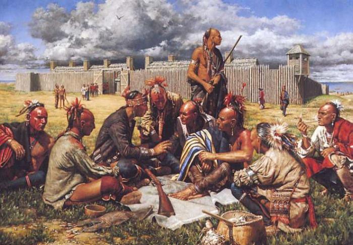 Биологическое оружие применяли и против североамериканских индейцев. /Фото: varvar.ru
