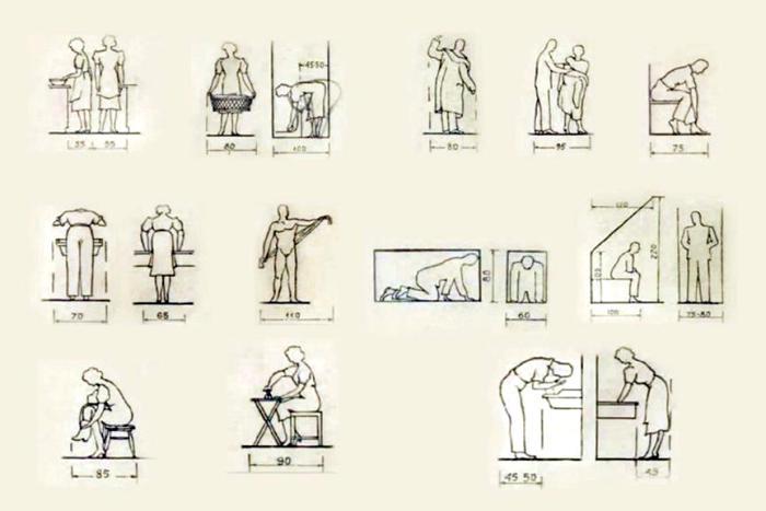 Схема «Размещение мебели и габариты жилых помещений малометражной квартиры». /Фото: moslenta.ru