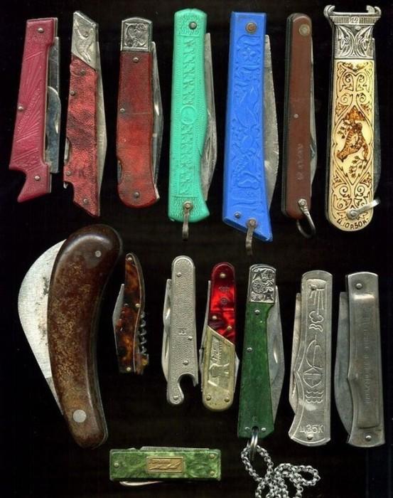 Советские ножи можно было открыть только двумя руками. /Фото: fishki.net