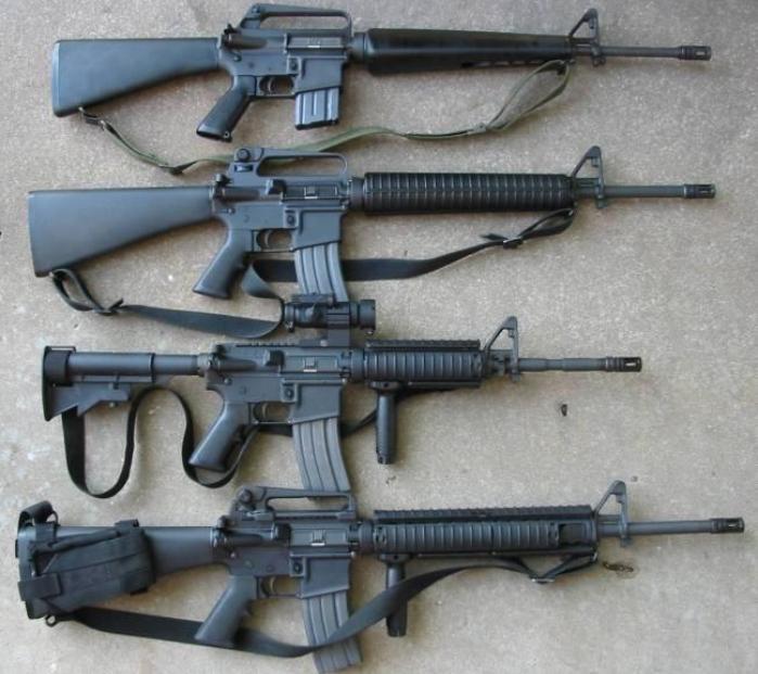 Модификации американской винтовки. /Фото: Wikipedia.org