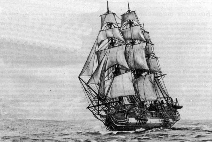 Первое судно, достигшее Антарктиды. /Фото: barque.ru
