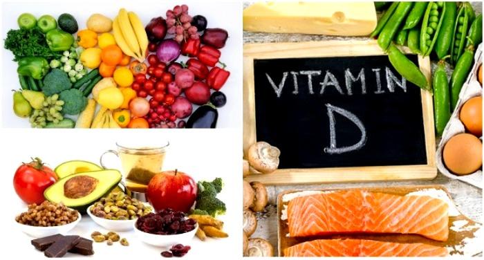 Больше овощей, фруктов и продуктов с витаминами и минералами. /Фото: toitumine.ee, poradnuk.com, debat.me
