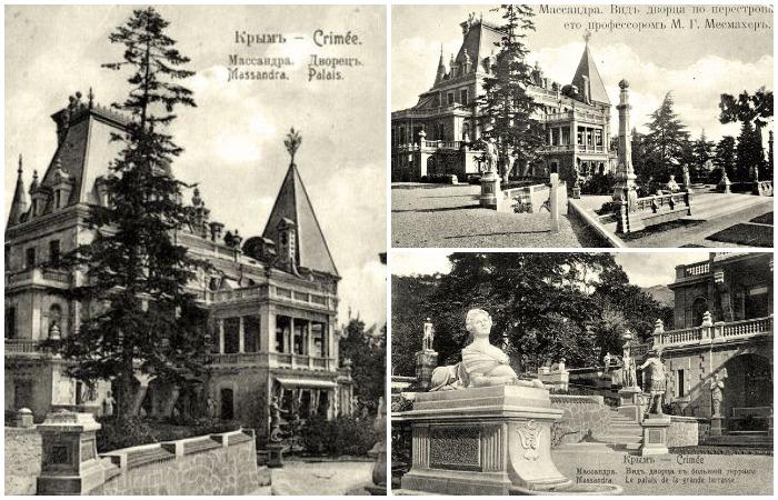 Массандровский дворец до (слева) и после (справа) перестройки. /Фото: wikipedia.org
