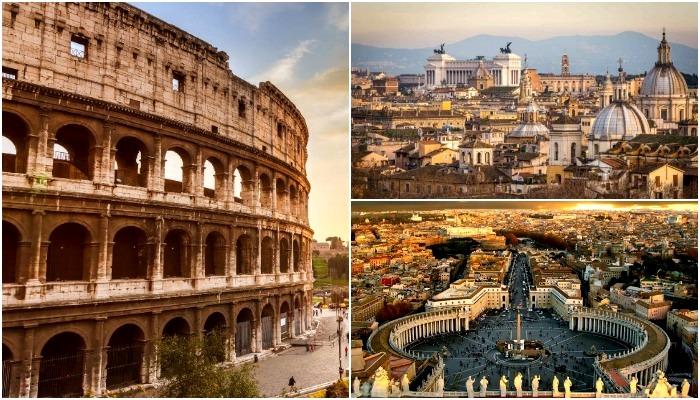 Великолепие вечного Рима не дает туристическому потоку иссякнуть. /Фото: proprikol.ru, bipbap.ru