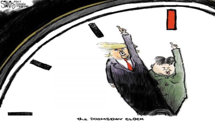 Конфликт КНДР и США приблизил время к полуночи. /Фото: knownow.pp.ua