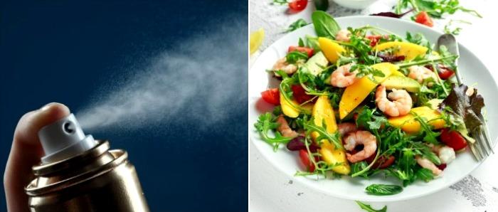 Самый аппетитный в салате из рекламы...лак для волос. /Фото: klevo.net