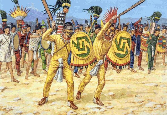 Дерево и обсидиан у ацтеков превращались в мощное оружие. /Фото: straniciistorii.ru