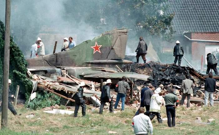 На месте крушения МиГ-23М. /Фото: warhead.su