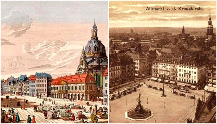 Дрезден на старинных гравюрах и открытках выглядит прекрасно. /Фото: livejournal.com, mikhed.ru