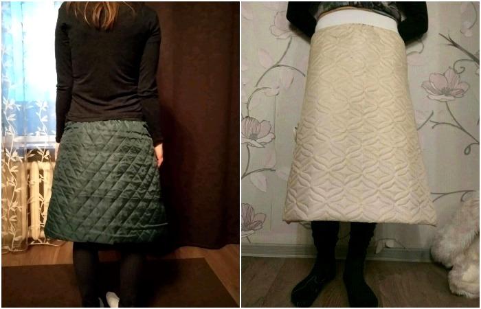 Так можно носить юбки даже в мороз без страха замерзнуть. /Фото: livemaster.ru