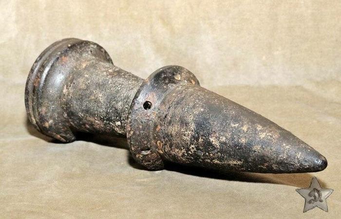 Немецкий снаряд с вольфрамовым сердечником. /Фото: fishki.net
