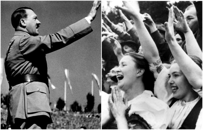 Во многом харизма и ораторские способности стали причиной огромной популярности Гитлера среди населения Германии 1930-х годов. /Фото: yourspeech.ru, dw.com