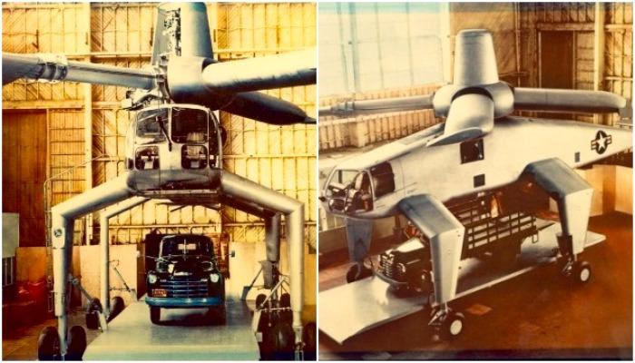 Hughes XH-17 на стадии строительства.