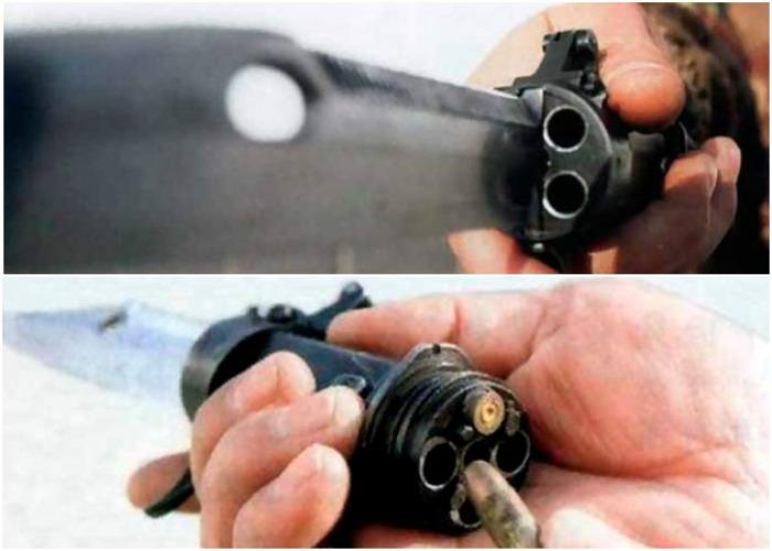 Нож с пулями в рукоятке. /Фото: twitter.com